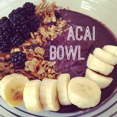 Acai Bowl or Pitaya Bowl Recipe   This is a delicious superfood breakfast, snack or dessert for children and adults. These fruits are low in calorie but high in nutrients such as vitamins, protein. Makes 2 servings  2 packs frozen pureed acai fruit (available at Whole Foods Market in freezer section) or pitaya fruit  1 banana (fresh or frozen)  ¼ cup juice (apple, pineapple, orange) or plant based milk (coconut, soy, rice, almond)  - See more at…