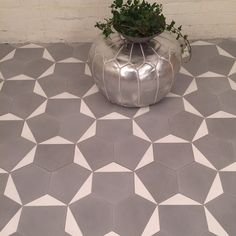 grey and white cement tile