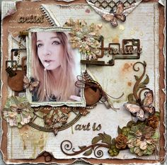 Art is ..... - Rachelle Sigurdson Dusty Attic chipboard & the Coffee in the Arbour Collection from Maja Design
