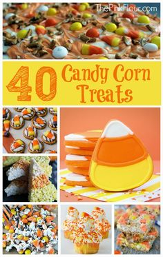40 Candy Corn Desserts & Sweets - a lots of ideas for desserts using candy corn from www.thepinkflour.com