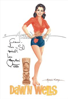 Dawn Elberta Wells (born October as Mary Ann from - Gilligan's island. Pin Up Girl Vintage, Vintage Tv, Mary Ann And Ginger, Kelly Brook Hot, Beautiful Celebrities, Funny Celebrities, Celebrities Fashion, People Illustration, Illustrations