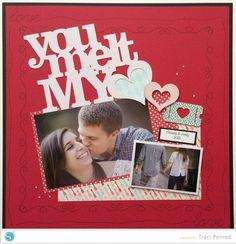 A Valentine Scrapbook Idea - Artsy Albums   Scrapbooking Kits and Custom Designed Scrapbook Albums by Traci   Penrod