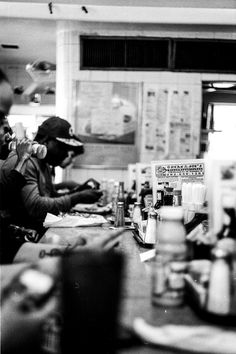 Diner Counter. Ilford FP4 Plus 125, Leica M3, Leica Summicron DR 50mm f/2. © Jim Fisher