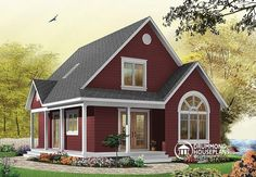 W3507 - Affordable Rustic Cottage House Plan, 2 To 3 Bedrooms Or Home Office…