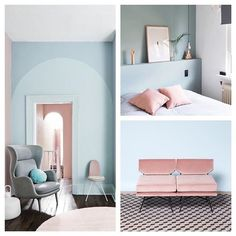 Summer inspiration! #colour #pastels #summer #interior #unusual #thedesignbird #styling #imagesourcepinterest