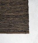 Leather - Jute - Cotton Rug / Black / 140 x 200 cm | Indie Home Collective