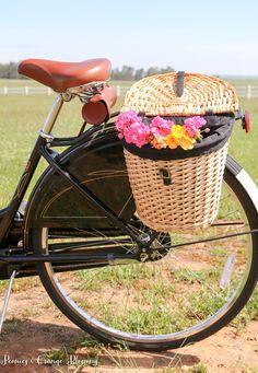 Amsterdam Bike with Flower Basket full of Flowers
