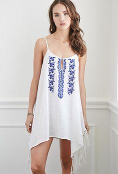 Tasseled Cami Peasant Dress   Forever 21 - 2000077180