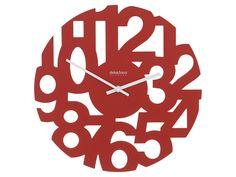 Reloj de Pared Numeros Rojos