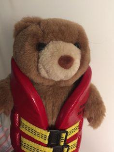 Teddy Bear In Life Vest Michigan Dept. of Natural Resources Law Enforcement Div.