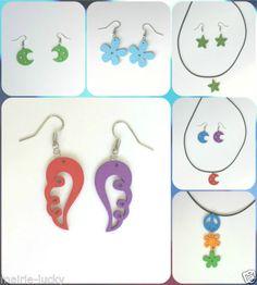 Collar-pendientes-con-colgantes-de-madera-Varios-modelos-y-colores-B24985
