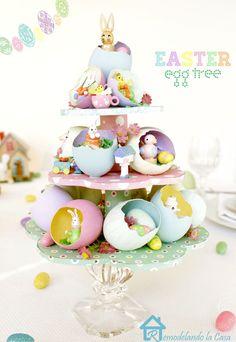 DIY Easter Egg Tree Centerpiece