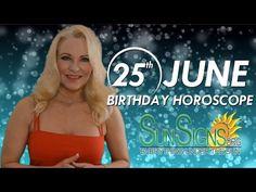 June 25th Birthdays Personality Horoscope 2015 - 2016 - YouTube
