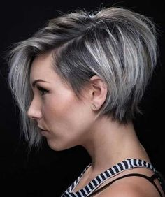 100 Mind-Blowing Short Hairstyles for Fine Hair – hair bangs long Short Hairstyles For Thick Hair, Bob Hairstyles, Layered Hairstyles, Short Asymmetrical Hairstyles, Hairstyle Short, Medium Hairstyles, Choppy Haircuts, Grey Hair Short Bob, Edgy Short Hair Styles