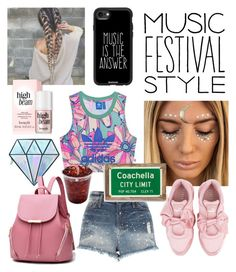 """Festival Style"" by aheavingham ❤ liked on Polyvore featuring Sunday Somewhere, Unicorn Lashes, Puma, River Island, Casetify, adidas Originals and Poncho & Goldstein"