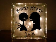 Jack Skellington and Sally Nightmare Before Christmas Night Light Simply Meant To Be on Etsy, $32.67 CAD