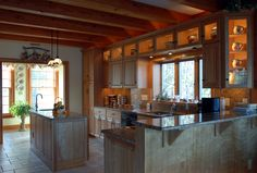 A Hardwick Post & Beam custom timber frame interior.