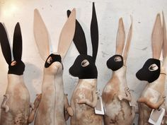 owls-love-tea: Hooded hares by Mister Finch