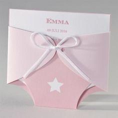 Geboortekaartje - roze pamper (505.036)
