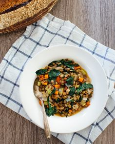 Hearty Sprouted Lentil Stew | A Couple Cooks