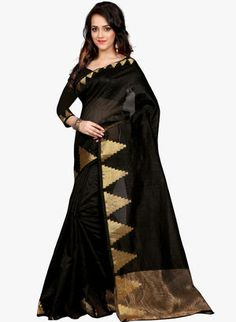 Black Sarees - Buy Black Color Printed Sarees Online in India