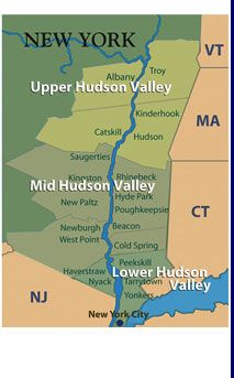 mid-Hudson Valley Map -- in the 60's and 70's we lived in several of the communities on this map at various times.  My daughter was born in Poughkeepsie.