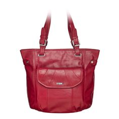 Grace Adele Leather Bella Red Bag with Leather Rue Red Clutch $300