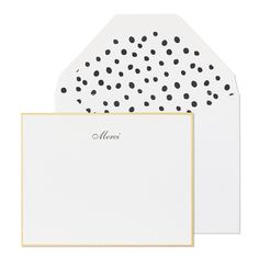 """Merci"" Thank you notes from Sugar Paper"