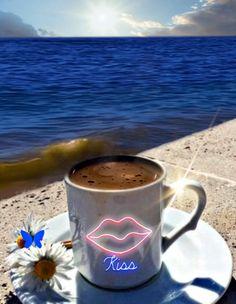Cute Good Morning Quotes, Good Morning Roses, Good Day Quotes, Good Morning Happy, Good Morning Coffee, Good Morning Greetings, Beautiful Fantasy Art, Beautiful Gif, Smileys Gif