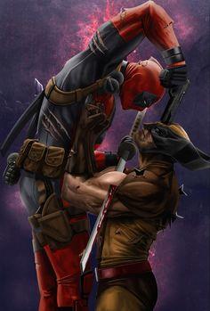 The Comic Ninja - Deadpool vs Wolverine Marvel Comics Superheroes, Marvel Art, Marvel Heroes, Marvel Characters, Marvel Avengers, Deadpool Wolverine, Wolverine Art, Wolverine Tattoo, Deadpool Pics
