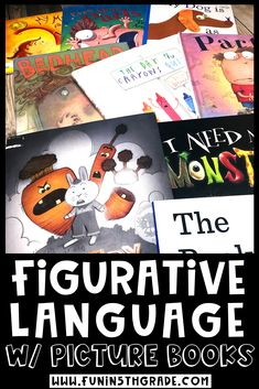 Picture books are the perfect way to introduce your students to figurative language! These activities would be perfect for grades 3  to introduce, review, or practice figurative language. Check out this blog post to find out more!