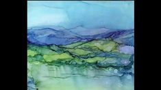 Alcohol Ink Paintings by Carolyn Opderbeck. YouTube video #5 shows it is possible to go far beyond the basics of pouring.