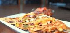 Bean and vegetable quesadillas: Yummy, Cheesy , Nutritious, easy and quick What else does one need from a recipe?