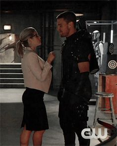 """I get to be bossy today because I am the boss of a multi-billion dollar corporation"" - Felicity and Oliver #Arrow"