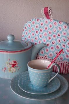 pretty #shabby #cathkidston #tea...love the color combo