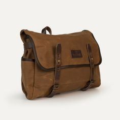 Bleu de Chauffe | Men | Satchel bag in Waxed canvas & leather I Musette Mariole I Made in France