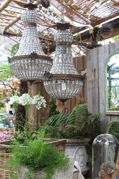 Urban Industrial Decor Tips From The Pros Have you been thinking about making changes to your home? Are you looking at hiring an interior designer to help you? Best Greenhouse, Urban Loft, Garden Shop, French Decor, My New Room, Light Fixtures, Outdoor Living, Ceiling Lights, Lighting