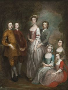 The Delaval Children c1742-3 - Circle of Joseph Highmore  painting at Seaton Delaval Hall, Northumberland