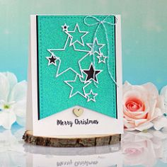 Merry Christmas with Shimmerz paste and Gummiapan Handmade Card Making, I Card, Past, Merry Christmas, December, Frame, Creative, Painting, Merry Little Christmas