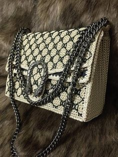 Unique handmade crochet bag gift for her 2017 trend evening