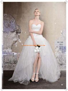 Robe de mariée bustier tulle princesse