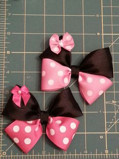 Minnie Mouse Inspired Hair Bow by TheFROGBoutique on Etsy, $4.00