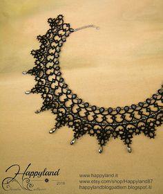 Cenicienta patrón de collar de encaje de aguja por Happyland87