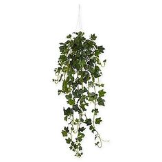 Inject a touch of life-like natural beauty to any space with the English Ivy Artificial Plant from Nearly Natural. Verdant, draping design brings the splendor of the outdoors into your home and comes with a white hanger basket for added realism.