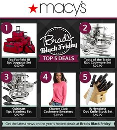 The Top 5 Deals in the Macy's Black Friday 2013 ad!