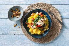 Kijk wat een lekker recept ik heb gevonden op Allerhande! Spaghettipompoen met tomaten, spinazie en ricotta