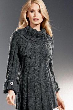 Hand Knit sweater custom made coat aran women's jacket women hand knitted women's dress sweater cardigan pullover clothing handmade Knit Cowl, Knit Crochet, Crochet Books, Crochet Stitch, Knit Fashion, Elegant Woman, Crochet Clothes, Pulls, The Dress
