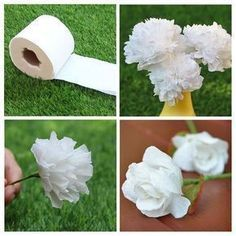 How to Make Flowers with Tissue Paper How to Make Flowers with Tissue Paper How to Make Tissue Paper Flowers Four WaysHow to Make Giant Paper Flowers. Step by Step TutoDIY Giant Paper Flowers Tutorial Toilet Paper Flowers, Tissue Flowers, Paper Flowers Craft, How To Make Paper Flowers, Crepe Paper Flowers, Flower Crafts, Diy Flowers, Fabric Flowers, Making Tissue Paper Flowers