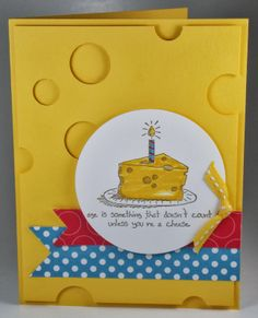 GIGGLE GREETINGS CARD: Daffodil delight, polka dots parade DSP, Bring on the Cake