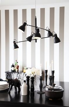 By Rydéns Pigalle Hängeleuchte in Schwarz Scandinavian Ceiling Lighting, Interior Lighting, Lighting Design, Lampe Tactile, Futuristic Design, Dining Room Lighting, Lampe Led, Hanging Lights, Scandinavian Design